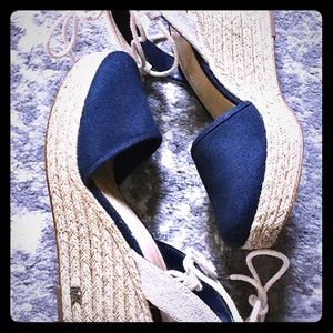Michael Kors espadrille navy closed sandals- 8&1/2